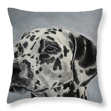 Dalmatian Portrait Throw Pillow