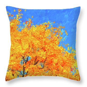 Throw Pillow featuring the painting The Power Of Color by Mark Tisdale