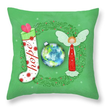 Joy Of Christmas Throw Pillow