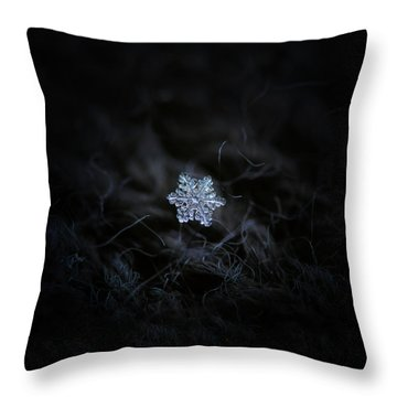 Real Snowflake - 2017-12-07 1 Throw Pillow