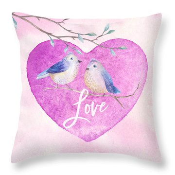 Lovebirds For Valentine's Day, Or Any Day Throw Pillow