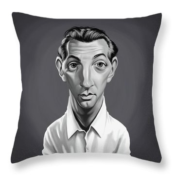 Celebrity Sunday - Robert Mitchum Throw Pillow