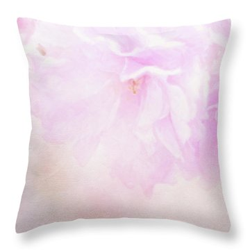 Cherry Blossom Valentine Throw Pillow