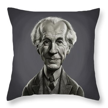 Throw Pillow featuring the digital art Celebrity Sunday - Frank Lloyd Wright by Rob Snow