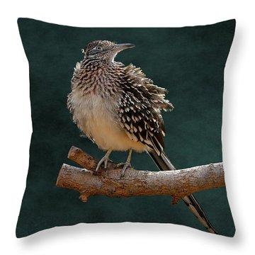 Cocoa Puffed Cuckoo Throw Pillow