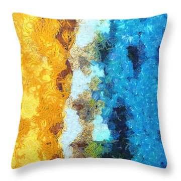 Here Shall Thy Proud Waves Be Stayed Throw Pillow