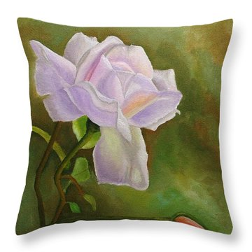 A Single Rose Throw Pillow