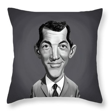 Throw Pillow featuring the digital art Celebrity Sunday - Dean Martin by Rob Snow