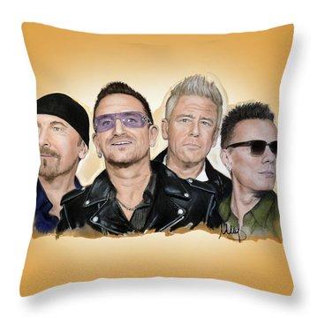 U2 Band Throw Pillow