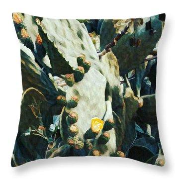 Opuntia Ficus Throw Pillow