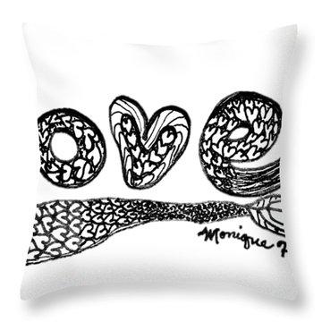 Mermaid Love Throw Pillow