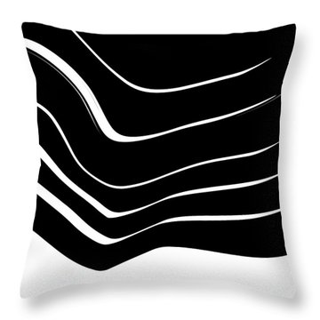 Organic No. 10 Black And White #minimalistic #design #artprints #shoppixels Throw Pillow