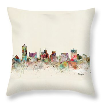 Memphis Skyline Throw Pillow