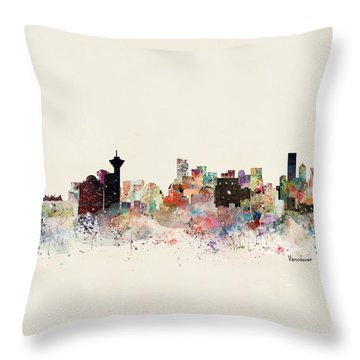 Vancouver Skyline Throw Pillow