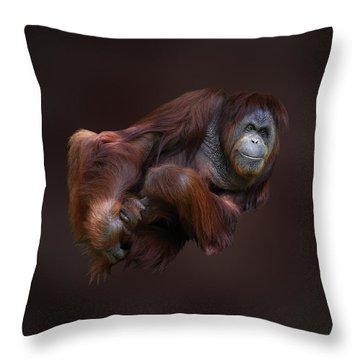 Folded Orangutan Throw Pillow