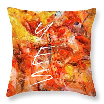 Say Throw Pillow
