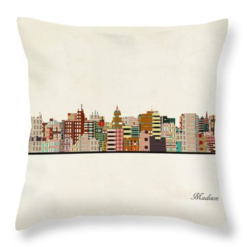 Madison Skyline Throw Pillow