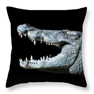Nile Croco-smile Throw Pillow