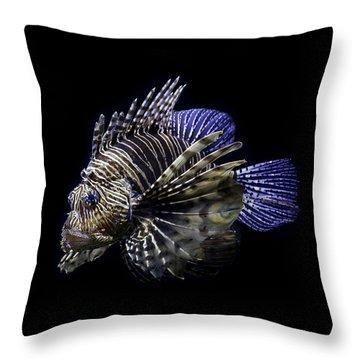 Majestic Lionfish Throw Pillow