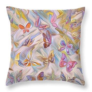 Butterflies Abstract  Throw Pillow