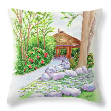 Pavilion Pathway Throw Pillow