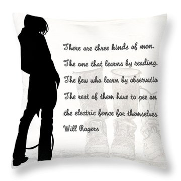 There Are Three Kinds Of Men Throw Pillow