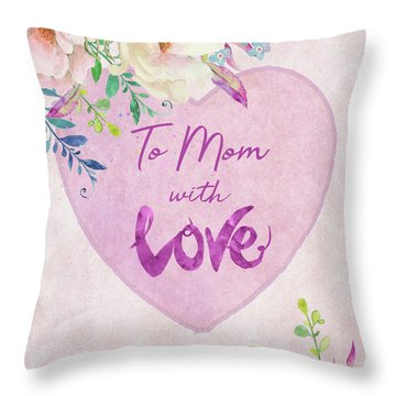 Mother's Day Wishes Throw Pillow