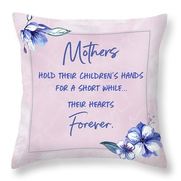 Mothers And Their Children Throw Pillow