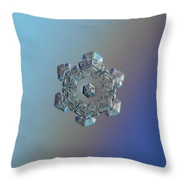 Real Snowflake - 05-feb-2018 - 6 Throw Pillow