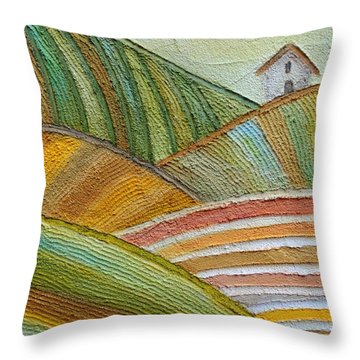 Plowing Through Throw Pillow
