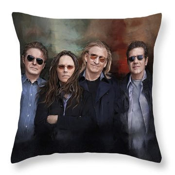 Eagles Band Throw Pillow