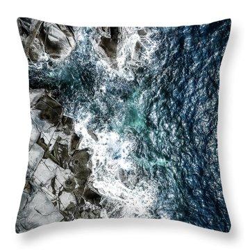 Skagerrak Coastline - Aerial Photography Throw Pillow