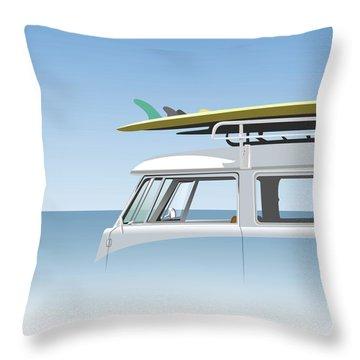 V W Bus Throw Pillow