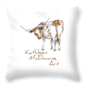 Logo Longhorn For Shirt Pocket Throw Pillow