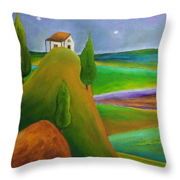 Starry Summer Night Throw Pillow
