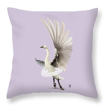 Throw Pillow featuring the digital art Lake Colour by Rob Snow