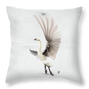 Throw Pillow featuring the digital art Lake by Rob Snow