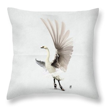 Throw Pillow featuring the digital art Lake Wordless by Rob Snow