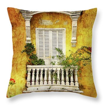 The Old City Throw Pillow by Blair Wainman