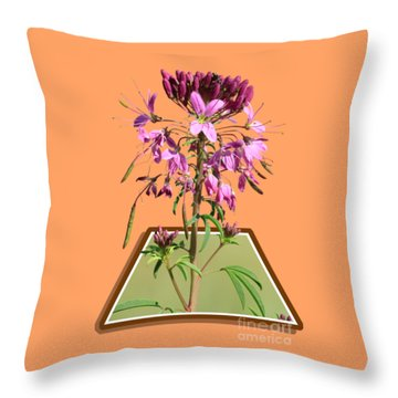 Rocky Mountain Bee Plant Throw Pillow