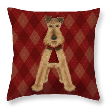 A Is  For Airedale Throw Pillow