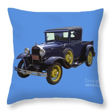 1930 - Model A Ford - Pickup Truck Throw Pillow