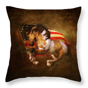 Freedom Run Throw Pillow