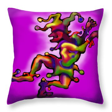 Mardi Gras Jester Throw Pillow by Kevin Middleton