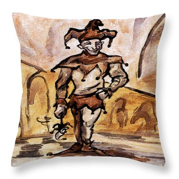 Court Jester Throw Pillow