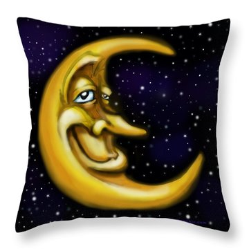 Moon Throw Pillow by Kevin Middleton