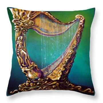 Harp Throw Pillow by Kevin Middleton
