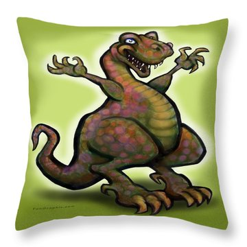 Tyrannosaurus Rex Throw Pillow by Kevin Middleton