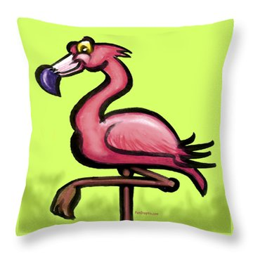 Flamingo Throw Pillow by Kevin Middleton