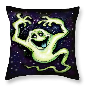 Throw Pillow featuring the painting Ghost by Kevin Middleton